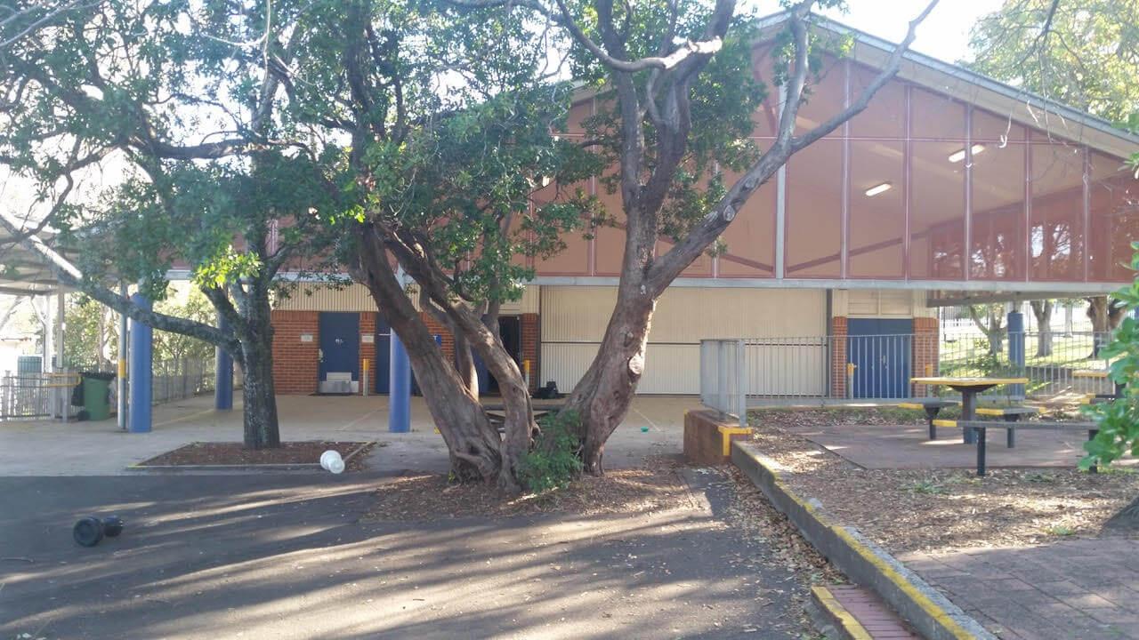 Inside Lawson public school hall
